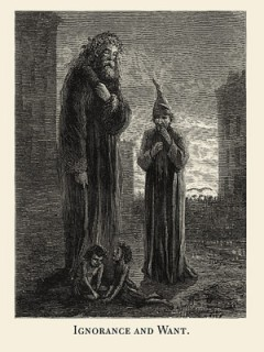 Wood engraving by Sol Eytinge, from the 1839 Ticknor and FIelds edition.