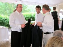 The effects are multi-generational. When I said I wanted a picture of the three of them, Bob, Bobby, and Dad all reached for their suit jackets in unison. 2011.